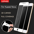 LEPHEE Huawei Nova Tempered Glass 3D Curved Full Coverage Screen Protector Carbon Fiber Soft Edge Huawei Nova Glass Film