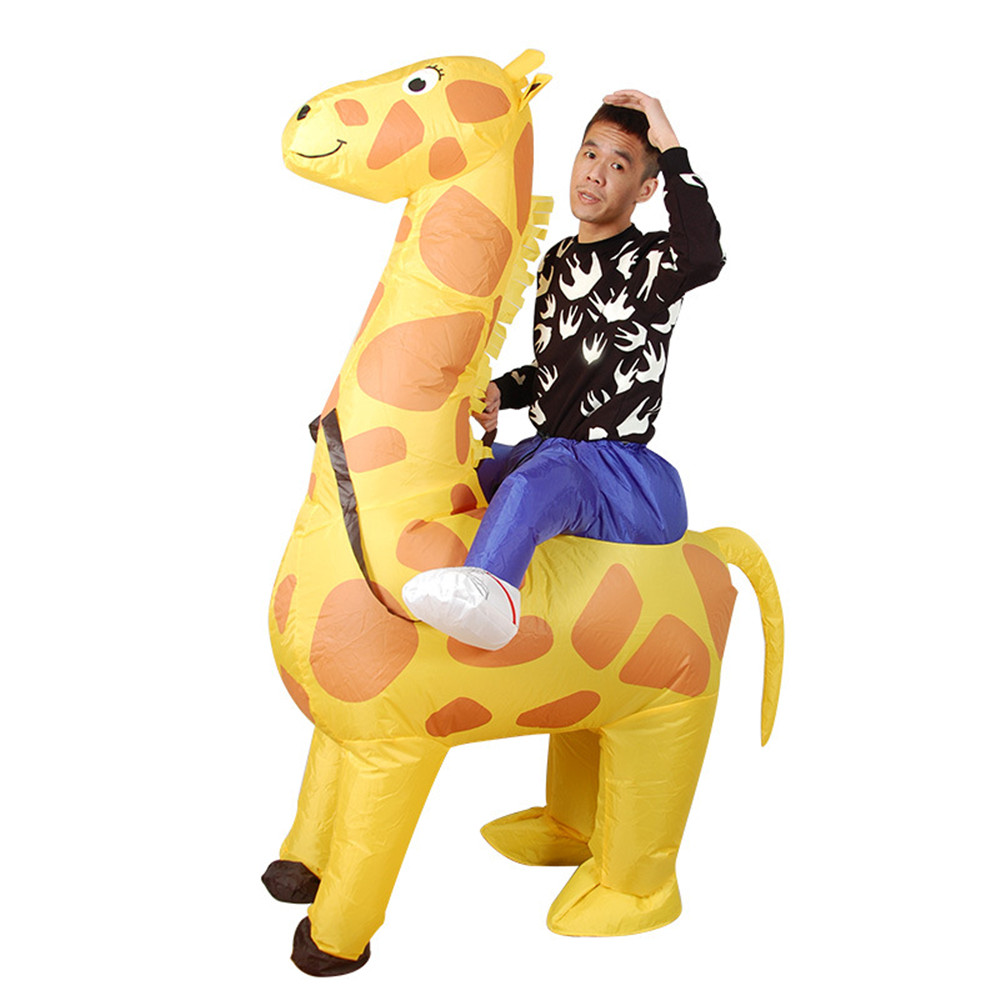Inflatable Monster Costume  Cycling riding Adult animal Mascot Cosplay Costume for Adult giraffe Halloween Purim Party Christmas