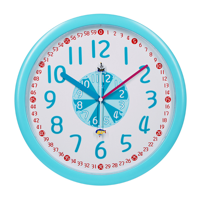 Pointer Number Time Cartoon Wall Clock For Kids Silent Creative Round Wall Clock Non Tick Bell For Living Room Bedroom Clocks