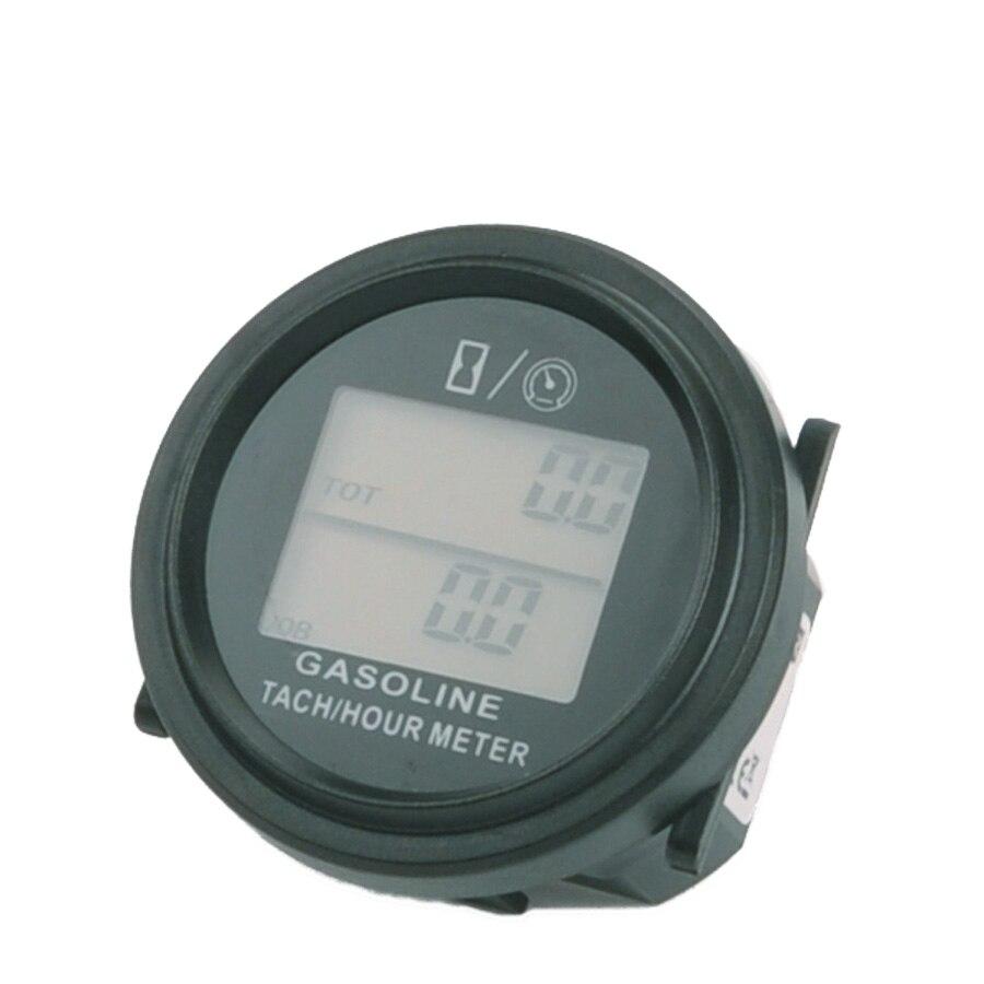 large LCD backlight Hour Meter Tachometer For Gas Engine 2/4 Stroke Engine Digital Spark Plugs Motorcycle