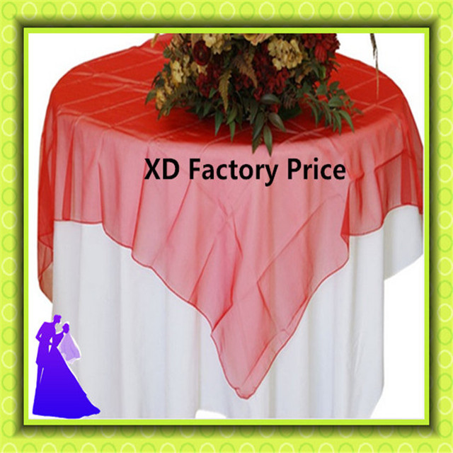 10pcs used red  table overlay for sale from China free shipping decoration