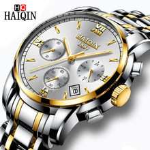 HAIQIN Men's Watches New Military Luxury Brand Watch Men Quartz Stainless Steel Watch Male Fashion Chronograph Relogio Masculino(China)