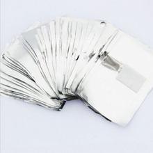 Sıcak satış 100 adet alüminyum tırnak kaplaması sarar pamuk Pad Nail Art kapalı islatın sökücü jel lehçe akrilik temizleme araçları