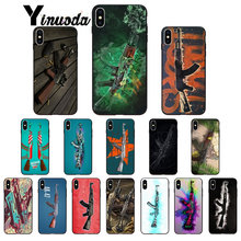 Yinuoda AK47 Gun Smart Cover Black Soft Shell Phone Case for iPhone 8 7 6 6S Plus 5 5S SE XR X XS MAX Coque Shell(China)
