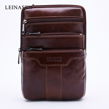 Genuine Leather New Fashion Designer High Quality Men Shoulder Bag Casual Zipper Office Messenger Bags For Male Crossbody Bags new fashion genuine leather messenger bags for male crossbody bags designer high quality men shoulder bag casual zipper office