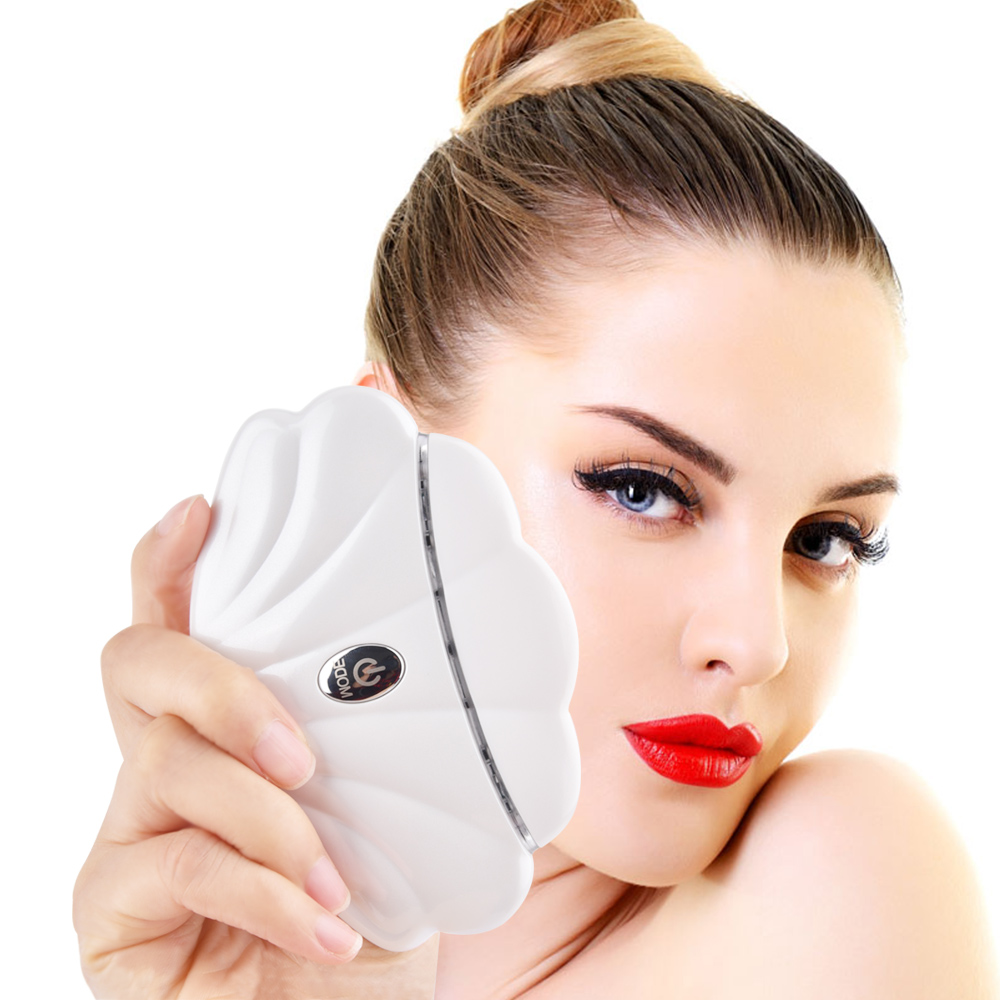 Face Shape Massager LED Heated Vibration Lifting Anti Aging Facial Detoxification Device Wrinkle Remover Skin Care Tool 4 heads portable massager pen shape mini electric wrinkle sonic eye massager vibration thin face massage stick health care tool