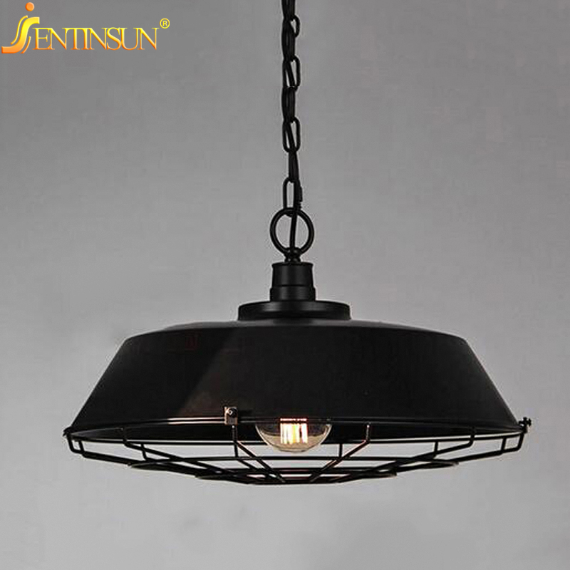 American Country Style Iron Loft Single Head Pendant Lights Vintage Industrial Wrought Metal lamps Light For Restaurant Bar american country industrial vintage loft style wrought iron 3 head pendant light restaurant coffee shop retro lamp free shipping