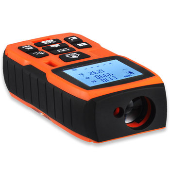 LOMVUM 40-120M Laser Distance Meter with Large LCD and Backlight for Wide Range Measurement
