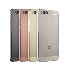 For Xiaomi mi note 3 Case for mi note3 Brushed Back Cover Hard Case with Plating Metal Frame Case for Xiaomi mi note 3 5.5