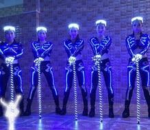 LED ultra lumineuse lanterne danse la tige luminescence performance jazz danse béquille accessoires costume main bâton danse scène