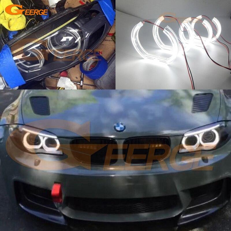 Для BMW 1 серии E82 e88 серия Е87 Е81 2008 2009 2010 2011 Ксеноновые фары отличный Стиль ДТМ Ультра яркий светодиодный глаза Ангела комплект