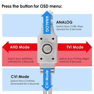 Image 5 - كاميرا ZOSI 2.0 MP 1080P 4 in1 TVI/CVI/AHD/CVBS كاميرا مراقبة ليلية ونهارية لمسافة 100 قدم بالأشعة تحت الحمراء ، هيكل معدني من الألمونيوم