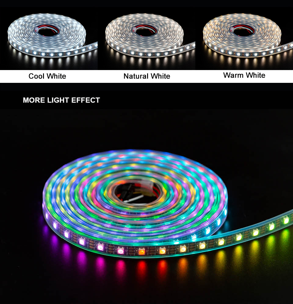 HTB1vtbXXULrK1Rjy0Fjq6zYXFXaE SK6812 RGBW (similar ws2812b) 4 in 1 1m/4m/5m 30/60/144 leds/pixels/m individual addressable led strip wwa ww nw IP30/65/67 DC5V