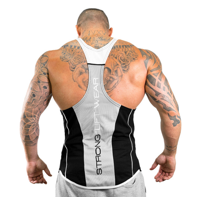 2018 New Men Tank top Gyms Workout Fitness Bodybuilding sleeveless shirt Male Cotton clothing Casual Singlet vest Undershirt 4
