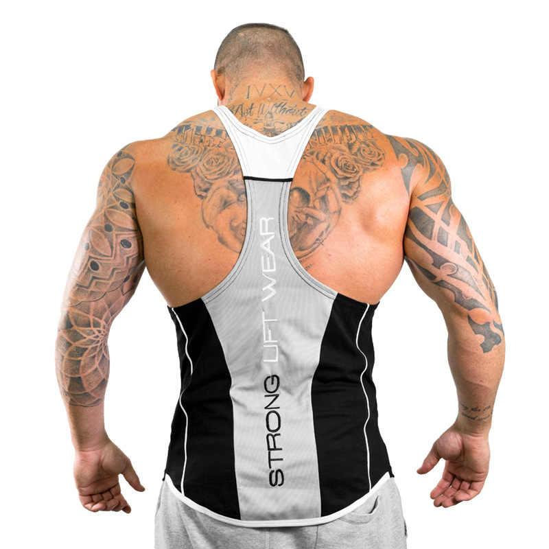 2018 新メンズタンクトップジムワークアウトフィットネスボディービルノースリーブシャツ男性の綿の服カジュアル一重ベストアンダーシャツ