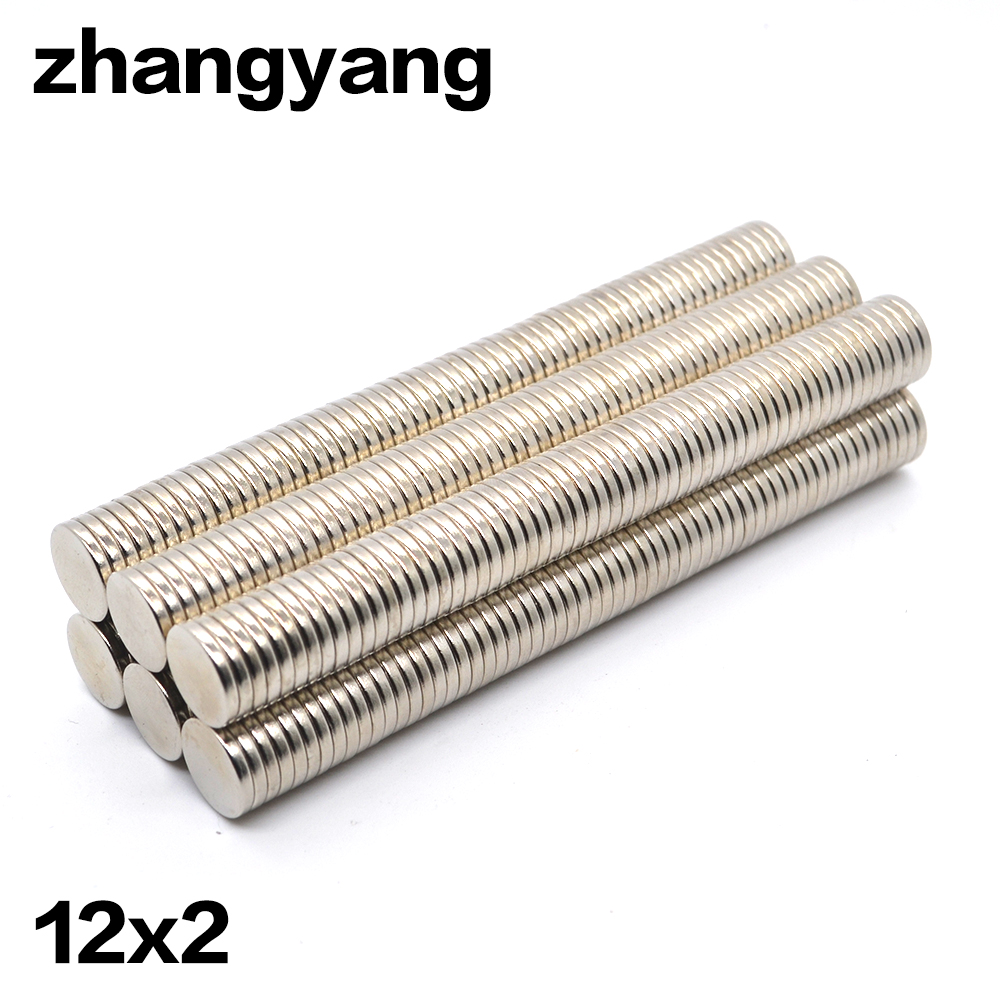 500pcs 12x2 mm Super Strong magnet 12X2mm Round Disc Rare Earth Neodymium magnet 12*2 mmNEW Art Craft Connection free shipping 100 pcs 5mm x 1mm disc rare earth neodymium super strong magnet n35 craft mode