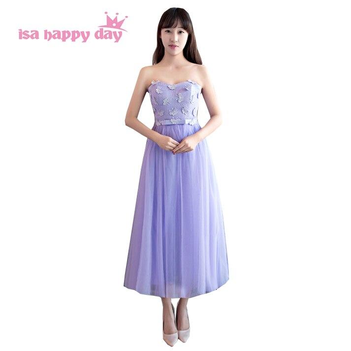 robes de soirees simple formal ladies short beautiful new purple tea length dress sweet 16 parties party prom dresses H4028