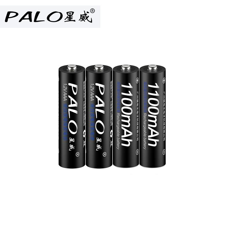 <font><b>1/2</b></font>/4/8/10pcs PALO Bateria <font><b>AAA</b></font> Batteries NI-MH 1100mAh Low-Self discharge <font><b>AAA</b></font> Rechargeable 3A Battery Batteries For Microphone image