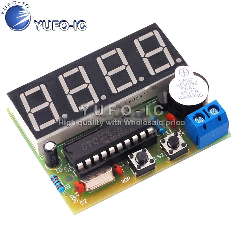 4-bit digital electronic clock 1 chip microcomputer digital clock DIY electronic production kit c51 four-bit clock making parts