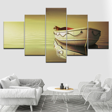 Canvas Painting Life Of Pi Boat Tiger Wallpapers Wall Art Pictures 5 Pieces Modular Poster Print for Home Decor