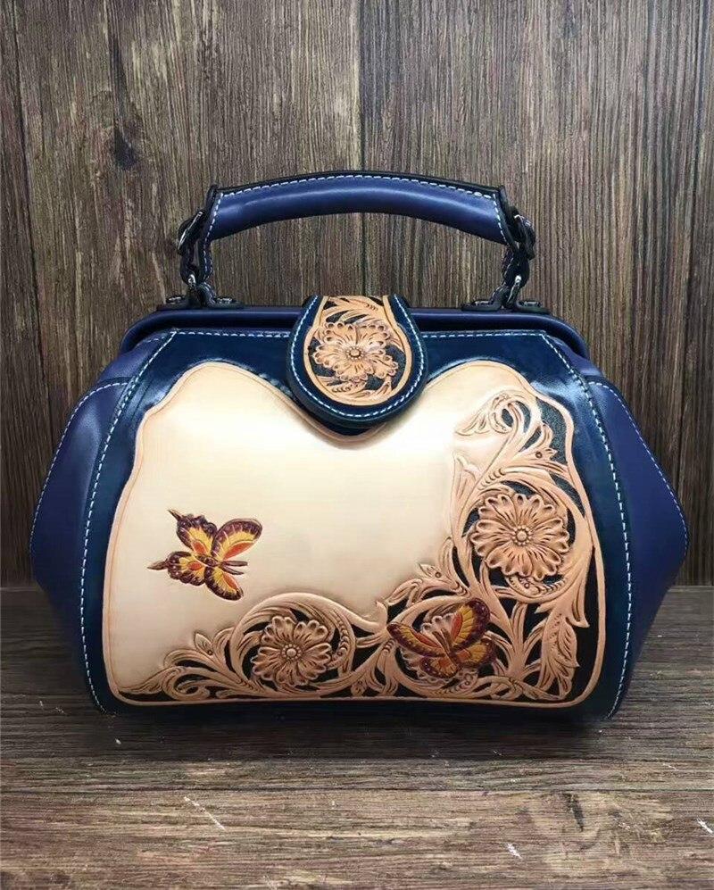 Handmade italian vegetable tanned leather Luxury messenger bags for women new flap crossbody handbag italian visual phrase book