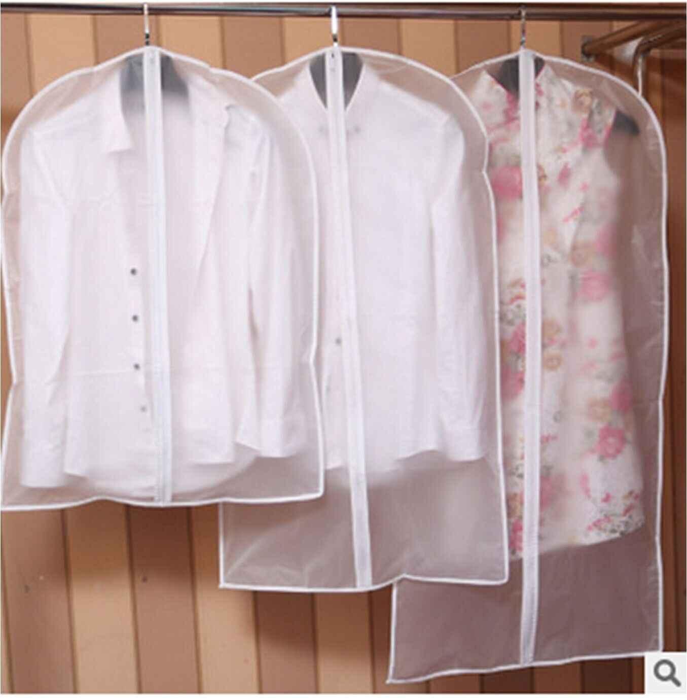 จำกัด 100 1Pcs เสื้อผ้าฝุ่นหน้าแรกกระเป๋าสำหรับเสื้อผ้าชุดเสื้อผ้ากระเป๋าคอนเทนเนอร์เก็บ