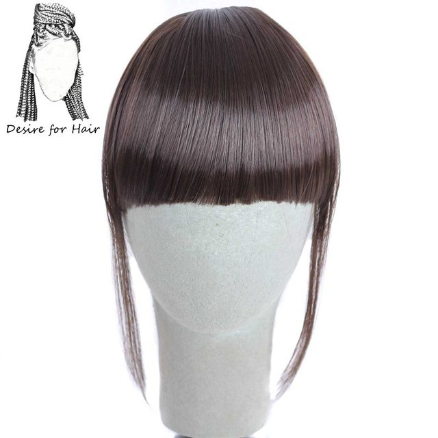 Desire For Hair 6inch Clip In Fringe Heat Resistant Synthetic Bangs