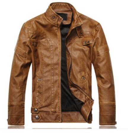NEW top quality <font><b>Leather</b></font> Jacket Men jaqueta de couro masculina mens <font><b>leather</b></font> jackets Men