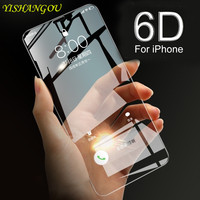 Funda de teléfono frontal de vidrio templado 6D 9H, carcasa para iPhone 12 Pro 11 Pro Max X XS Max 7 8 Plus, iPhone X 6 6S Plus