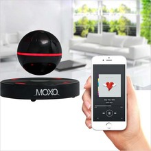 MOXO Portable Mini Wireless Bluetooth Speaker Magnetic Levitation 3D Music Player Subwoofer with Mic Hands free