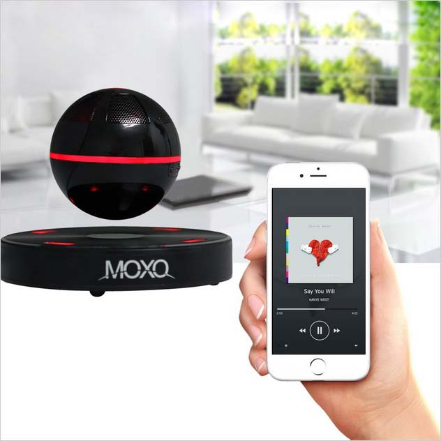 MOXO Portable Mini Wireless Bluetooth Speaker Magnetic Levitation 3D Music font b Player b font Subwoofer