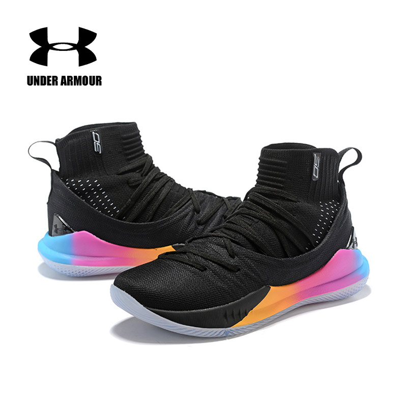 Hot Sale Under Armour Shoes Men UA Curry 5 Basketball Shoes zapatos hombre Outdoor Sneakers Man Athletic Sport shoes 40-46