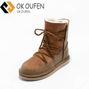 c320536c89d OKOUFEN warm winter fur boots ugs women shoes Rain snow