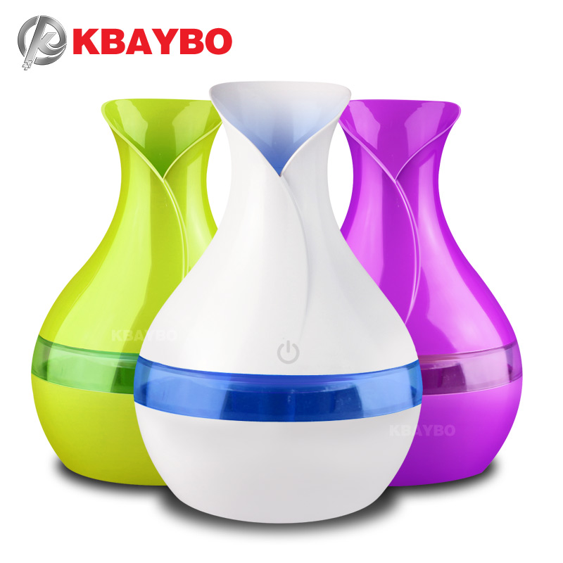 KBAYBO eléctrica aroma difusor de aceite esencial 300 ml Mini USB humidificador ultrasónico aromaterapia mist maker para home office