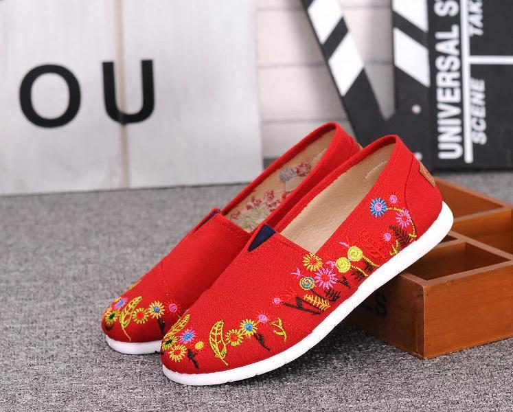 National Vent Chaussures En Tissu Fait Main Nouvelle Mode Brodé Chaussures (taille: 36-40)