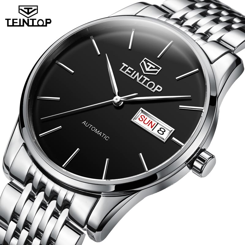 TEINTOP Mens Automatic Mechanical Watches Top Brand Luxury watches Men Steel Army Military Watches Male Business Wristwatch didun mens automatic mechanical watches top brand luxury watches men steel army military watches male business wristwatch clock
