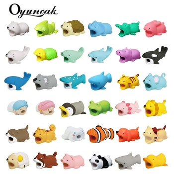 Oyuncak Cable Bite Novelty Gag Toys Popular Animals Cable Protector For Iphone Chompers Squishy Cat Rabbit Funny Biters Doll Toy protectores de cargador iphone
