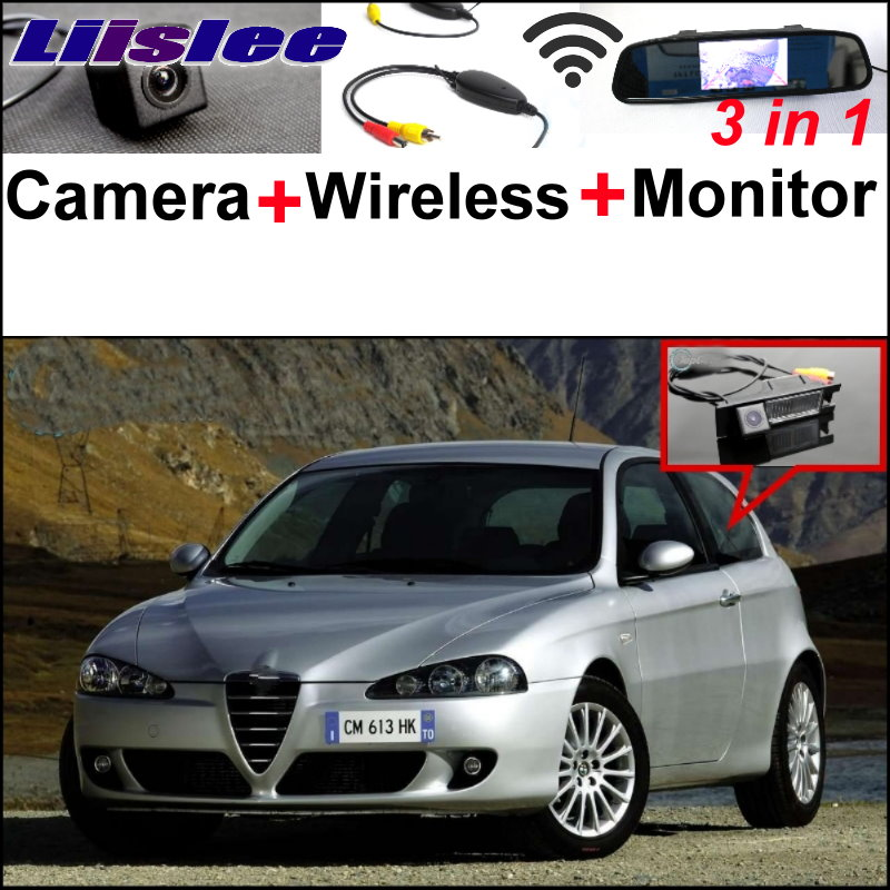 Liislee For Alfa Romeo 147 AR WiFi Rear View Camera + Wireless Receiver + 3 in1 Special Mirror Monitor Easy DIY Parking System liislee for renault samsung qm5 3 in1 special rear view camera wireless receiver mirror monitor easy back parking system