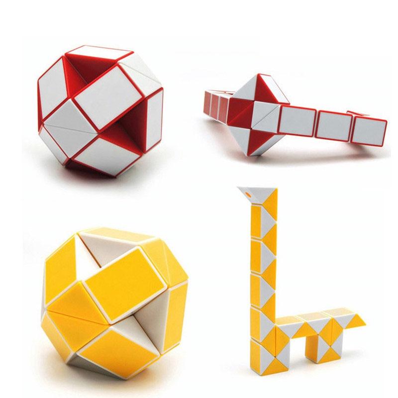 24 Blocks Ruler Magic Cube Puzzle Magic Ruler Cube Snake Twist Puzzle - ფაზლები - ფოტო 6