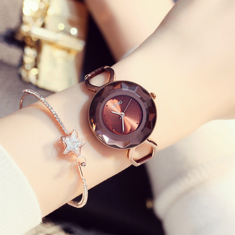 KIMIO Brand Fashion Women Bracelet Dress Watches Ladies Casual Multi-faceted Incise Quartz-Watch Relogio Feminino Relojes Mujer kimio brand fashion luxury ceramics women watches imitation clock ladies bracelet quartz watch relogio feminino relojes mujer