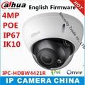 Dahua IPC-HDBW4421R IR IP Camera 4MP Full HD Network IR security cctv DH-IPC-HDBW4421R Dome Camera Support POE