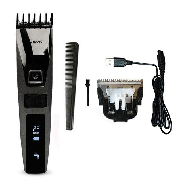 Riwa водонепроницаемый триммер волос жк-дисплей мужская машинки для стрижки волос аккумуляторная один кусок biuld гребень дизайн k3 - Цвет: USB Trimmer Blade