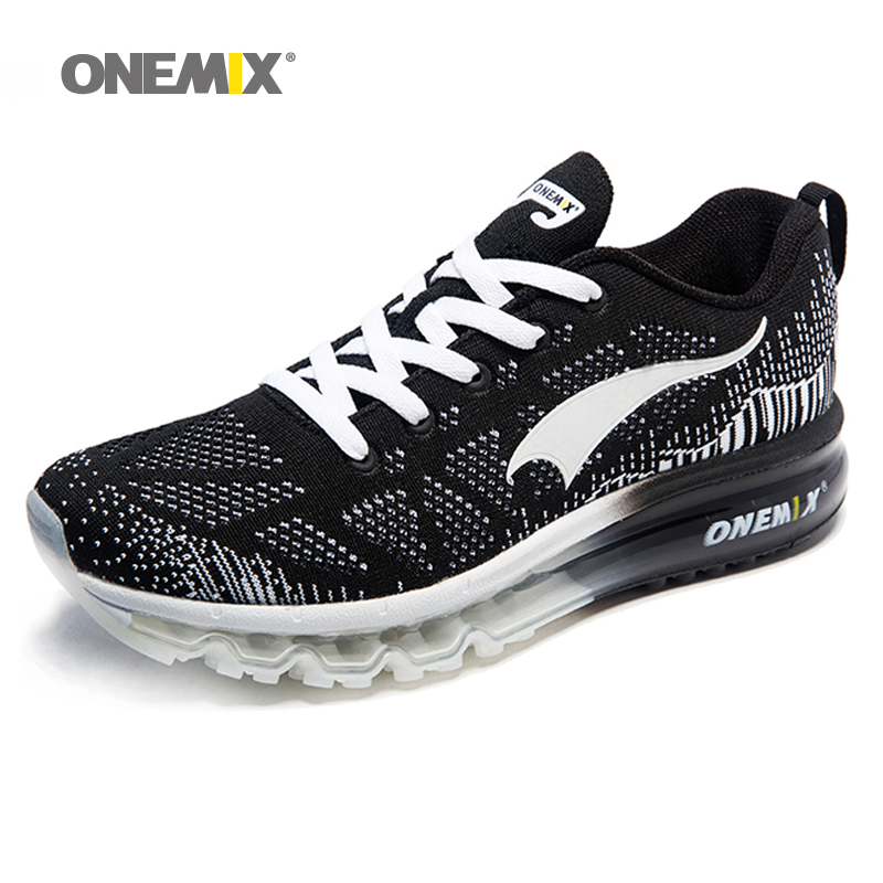 Onemix men's sport air running cushion shoes music rhythm men's sneakers breathable mesh outdoor athletic shoe light male shoe peak sport men outdoor bas basketball shoes medium cut breathable comfortable revolve tech sneakers athletic training boots
