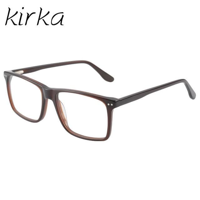 Kirka Classic Men Eyewear Frame Brown Acetate High Level Quality ...