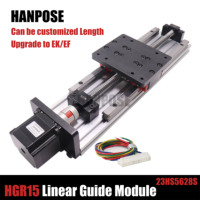HPV6 Linear module ballscrew sfu1204 with Linear Guides HGR20 HIWIN 100% same size with NEMA23 2.8A 56mm stepper motor