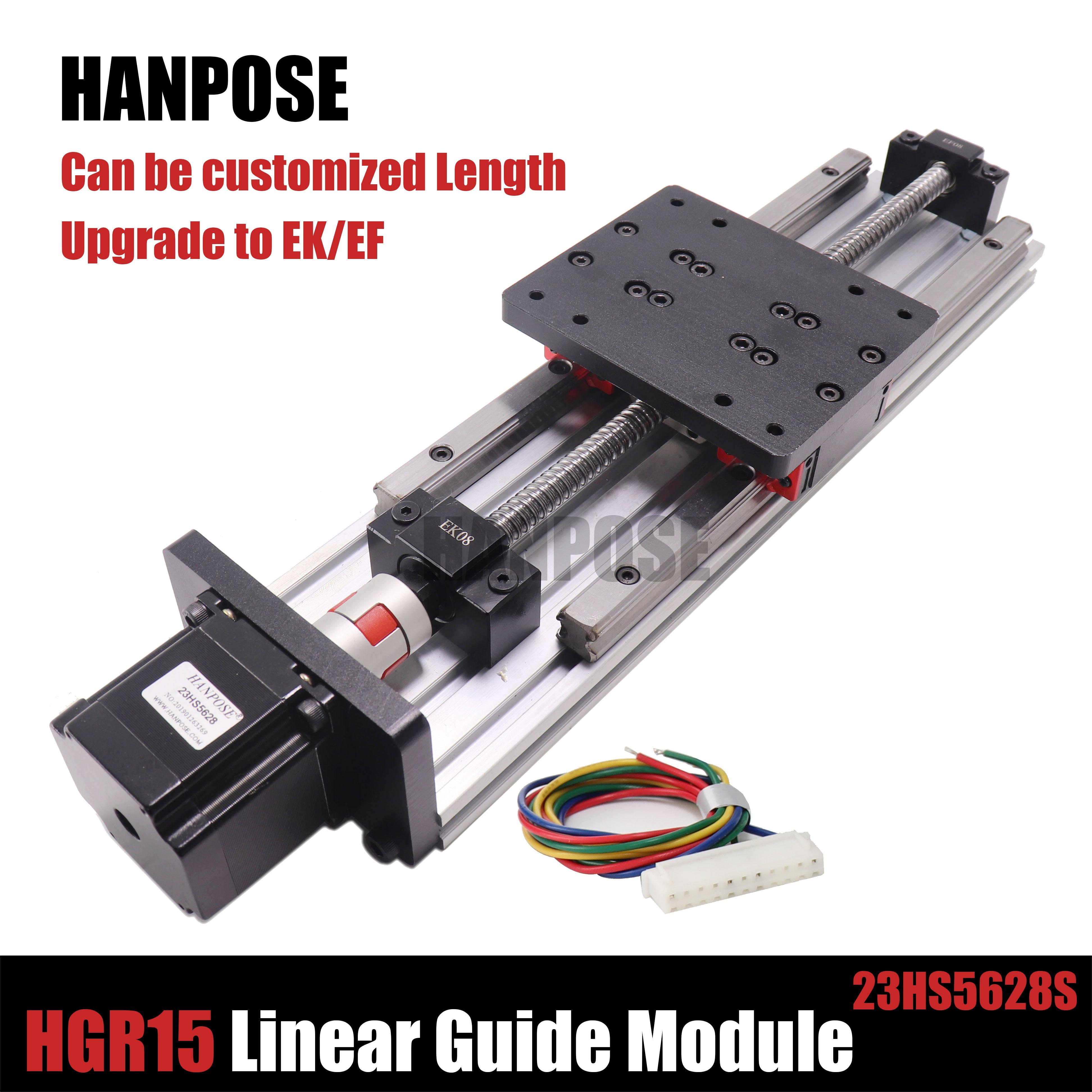 HPV6 module linéaire vis à billes sfu1204 avec Guides linéaires HGR15 HIWIN 100% même taille avec NEMA23 2.8A 56mm moteur pas à pas
