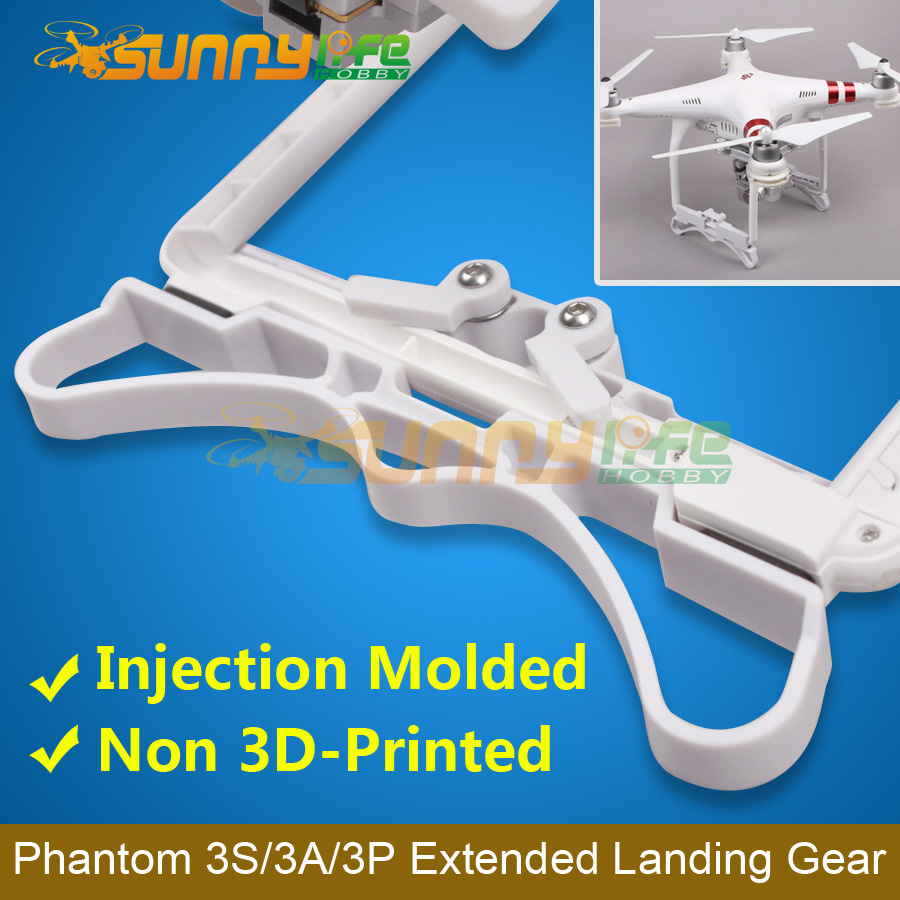 DJI Phantom 3S 3A 3P Use Extended Landing Gear Landing Skid Support Stabilizers DJI Phantom 3 Parts