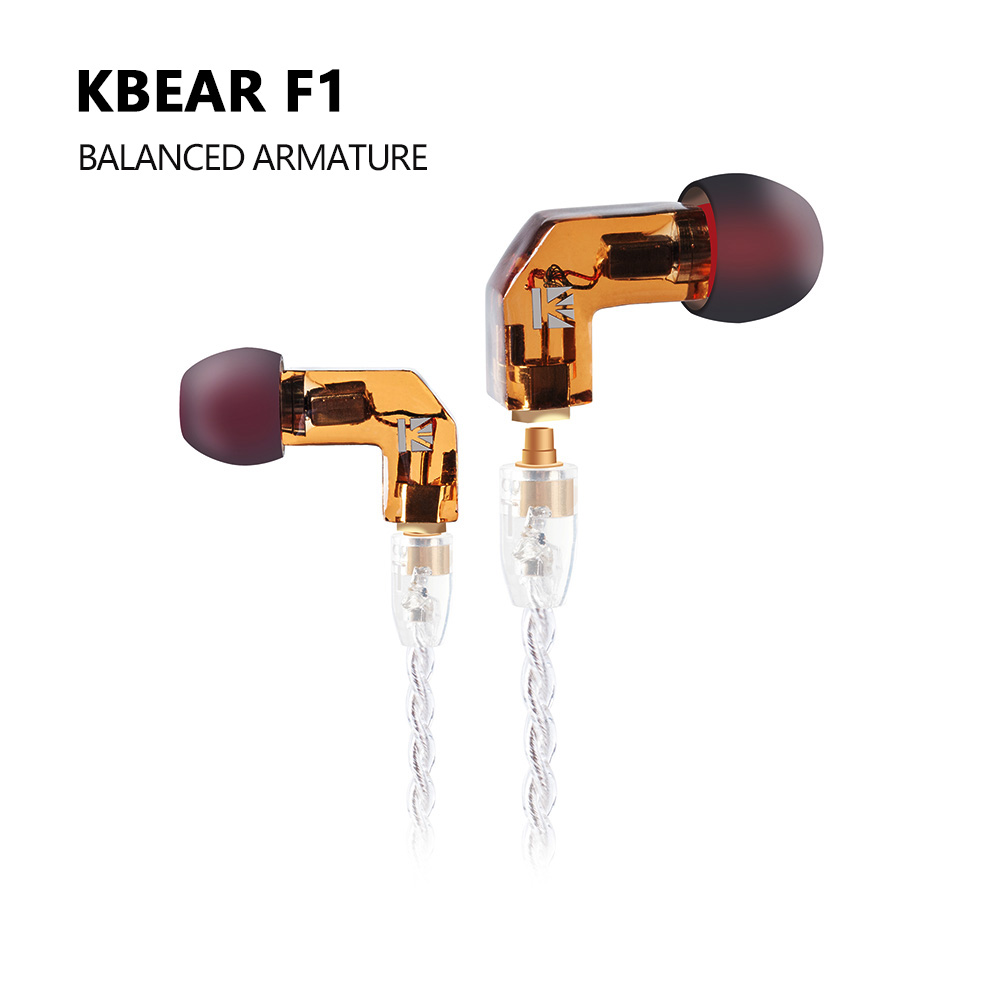 AK KB EAR F1 Balanced Armature in Ear Earphone Bass DJ Running Sport Technology HIFI Headset