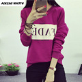 Autumn 2017 Sweatshirt Women Casual Long Sleeved Pullovers Female Loose Plus Size Letter Hoodies