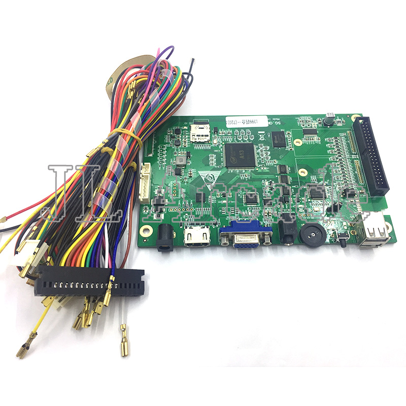 1399 en 1 jeux carte mère d'arcade pour la boîte de pandore 6 S VGA HMDI contrôle vidéo PCB carte principale intégrée poignée puce avec Port USB